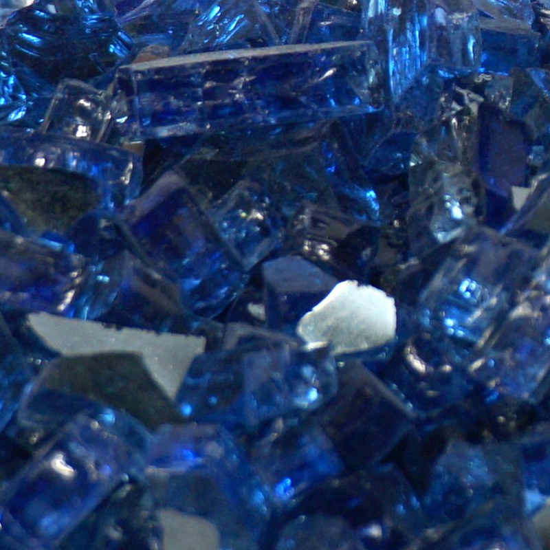 Royal Blue Metallic Fireglass Crystals
