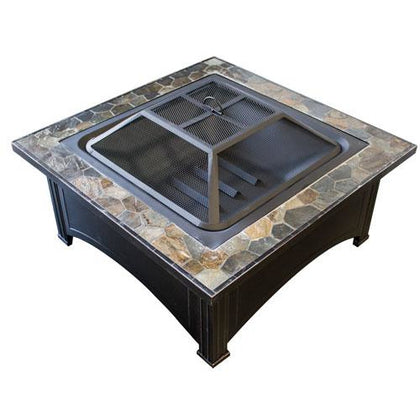 "36"" Slate Top Wood Burning Firepit - Outdoorlivingsuites"