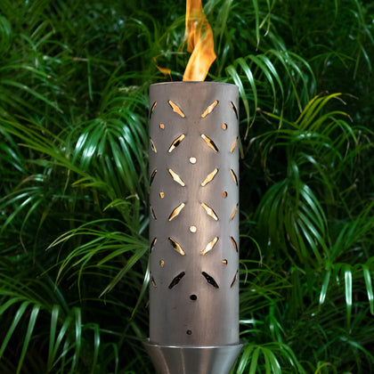 Diamond Plate Fire Torch - Outdoorlivingsuites
