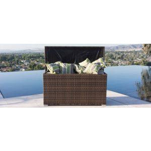 Outdoor Patio Wicker Rattan Cushion Storage Bin Deck Box Cushion Box