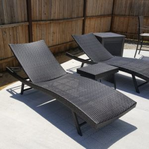 East Village 3 Piece Sun Lounger Set with Table