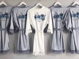 Floral Bouquet Bridal Robe