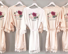 Load image into Gallery viewer, Floral Bouquet Bridal Robe