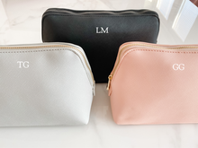 Load image into Gallery viewer, Personalised Monogram Cosmetic Bag