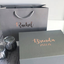 Load image into Gallery viewer, Personalised Grey Bag/Box