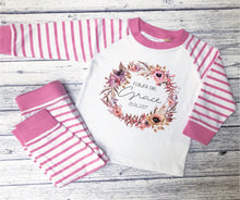 Load image into Gallery viewer, Personalised Floral Design Children's Pyjamas