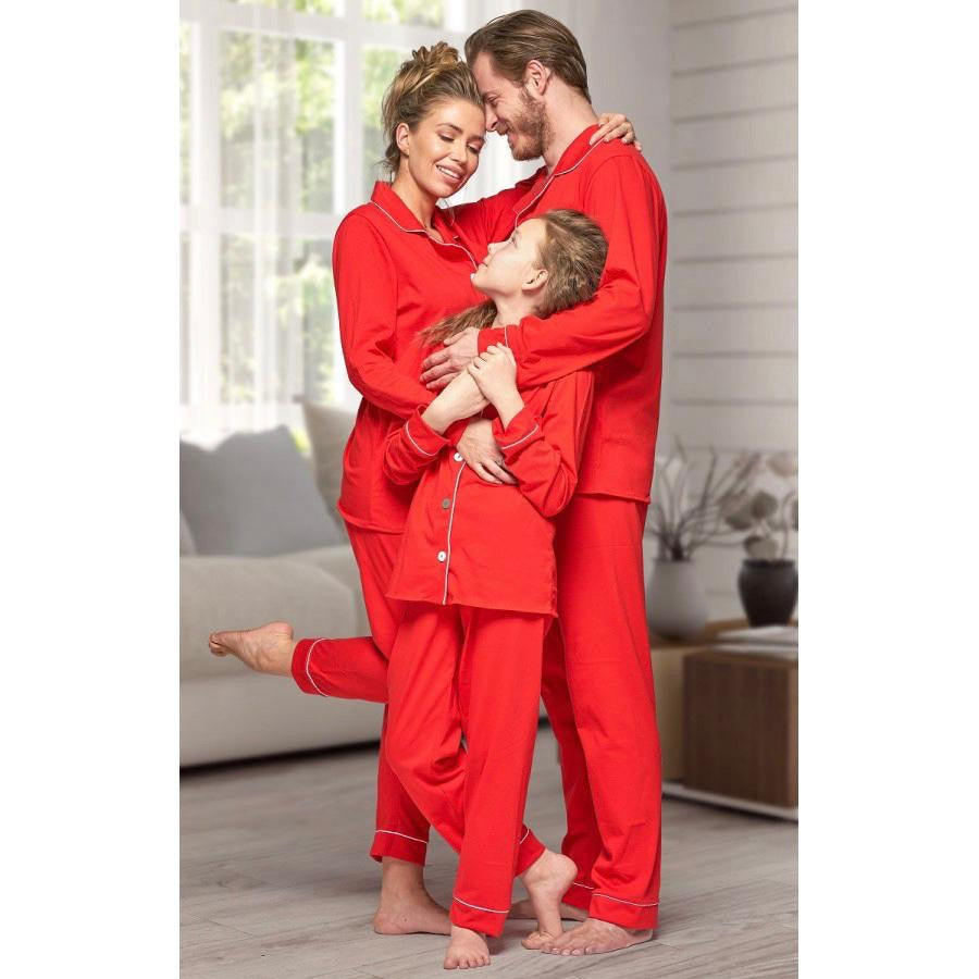 Christmas red matching family pyjamas