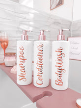 Load image into Gallery viewer, ROSE GOLD personalised pump bottle