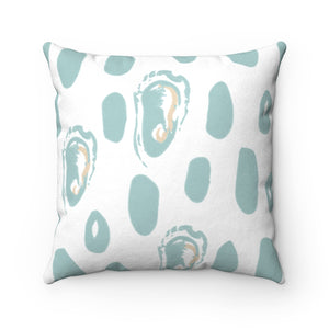 Abstract Oyster Faux Suede Square Pillow