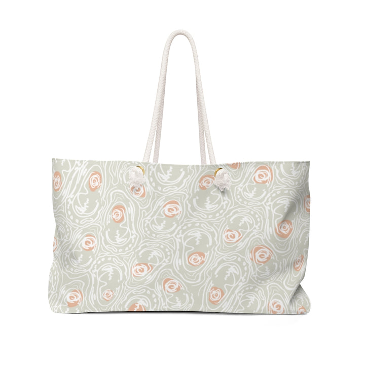 Abstract Oyster Peachy Half Shell Weekender Bag
