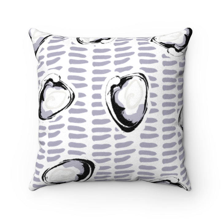 Abstract Coastal Clam Faux Suede Square Pillow