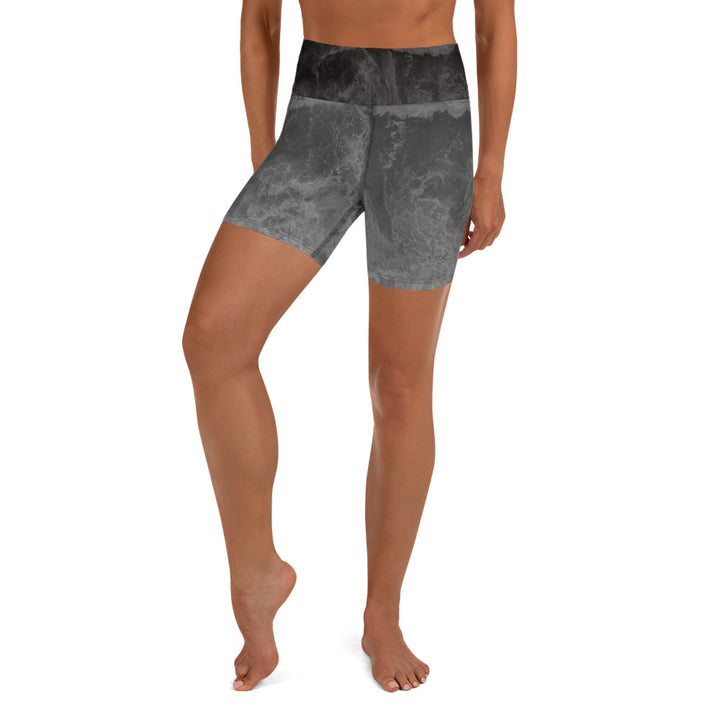 Moon Wave Yoga Shorts