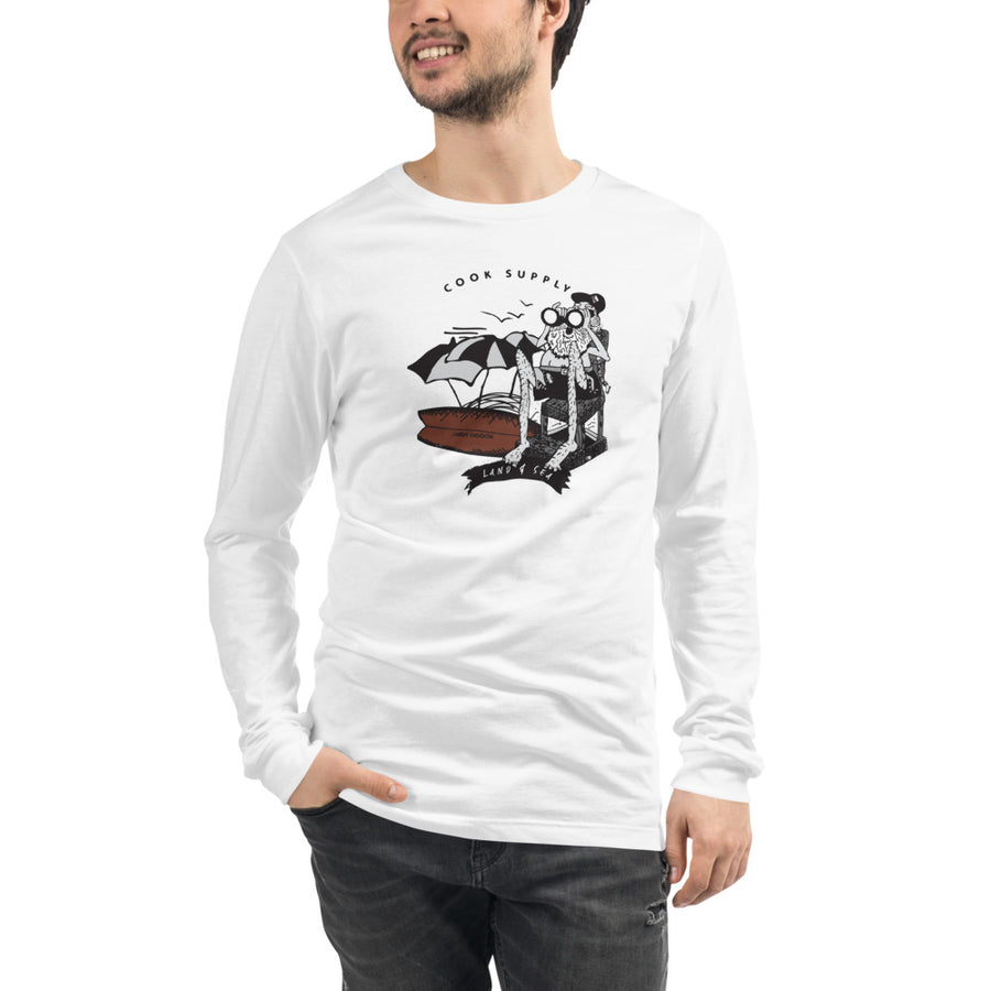 Wave Watcher Fitted Unisex Long Sleeve Tee