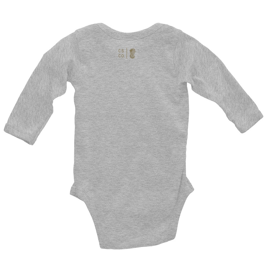 Baby Pink Moon Wave Long Sleeve Onesie