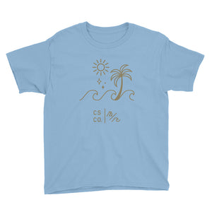 Youth Palm Wave Short Sleeve T-Shirt