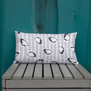 Abstract Coastal Clam Premium Pillow