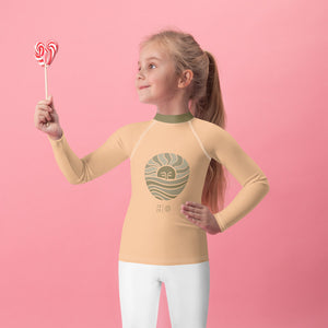 Mini-Wahine Peachy Moon Wave Rash Guard