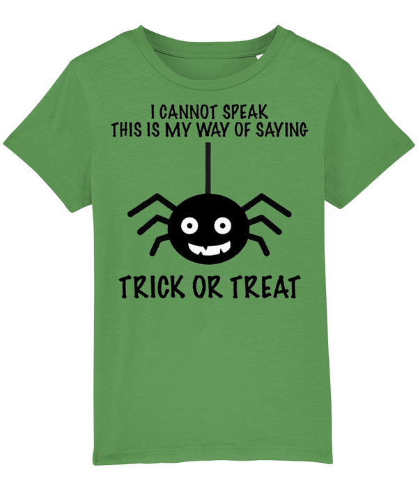 Trick or Treat Spider T-Shirt - Non Verbal