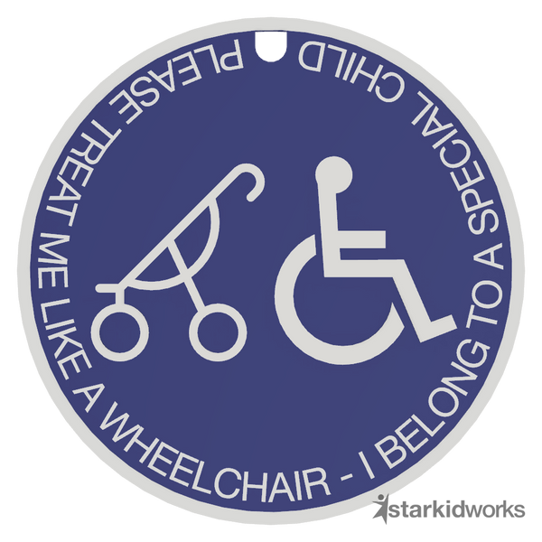 Special Needs Pram Tag - Blue