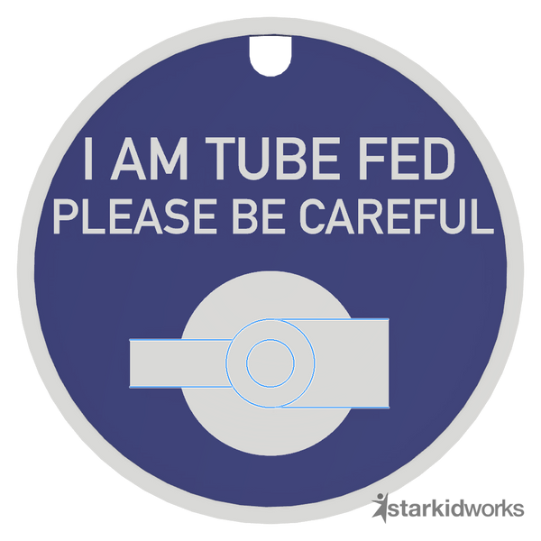 Tube Fed Tag + Lanyard