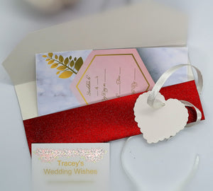 Red Glitter Wedding Favour/pouch