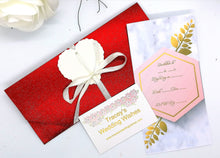Load image into Gallery viewer, Red Glitter Wedding Favour/pouch