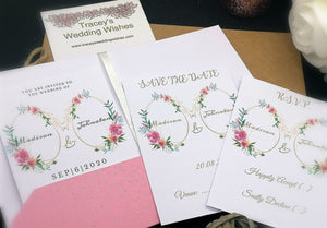 Blushing Pink Invitation Set