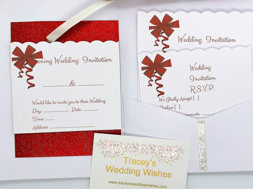 Complete Wedding Stationery Set inc. wallet case/pouch