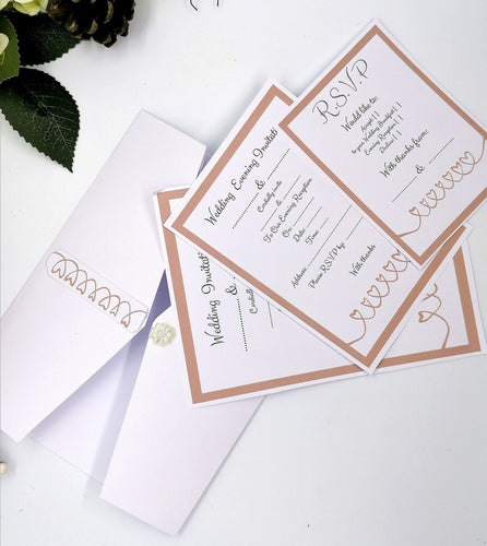 Blushing Wedding Stationery Set