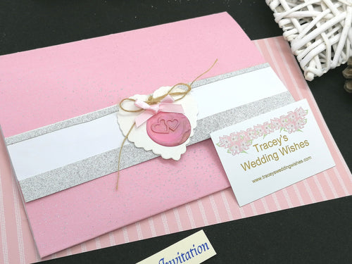 Blush Pink Wedding Stationery Set