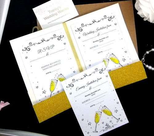 Cheers Wedding Invitation Set