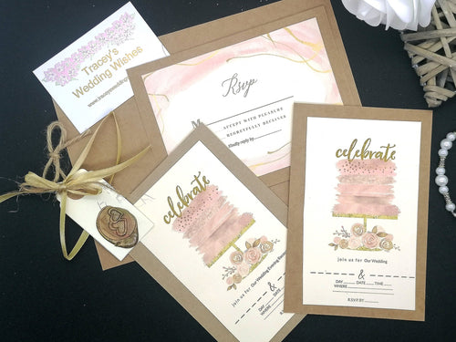 Layer Cake Invitation Set