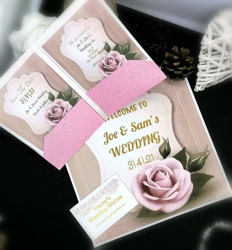 Dusky Rose Invitation Set