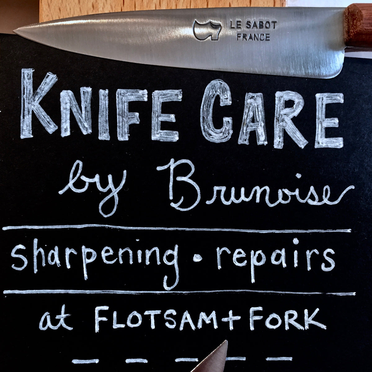 New: knife sharpening and blade repair at F+F