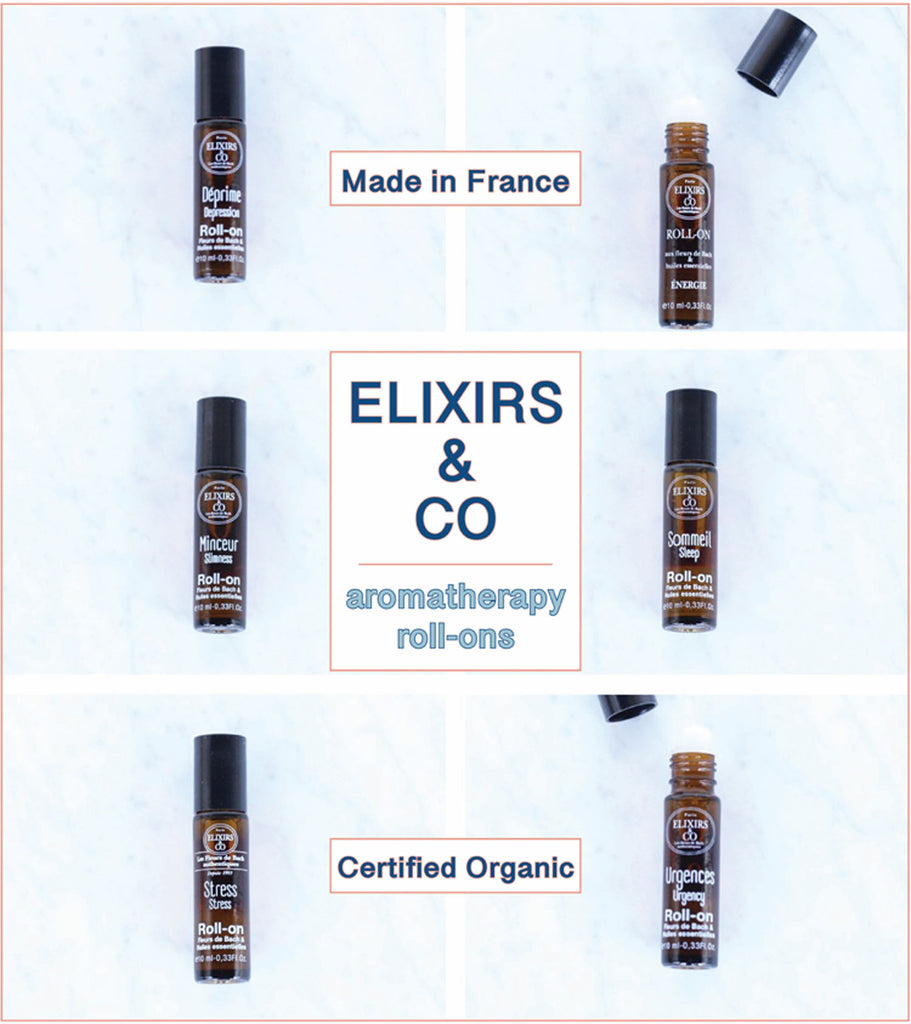 ELIXIRS & CO. ROLL-ONS Aromomathérapie from the Parisian Bach flower experts