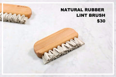 natural rubber lintbrush