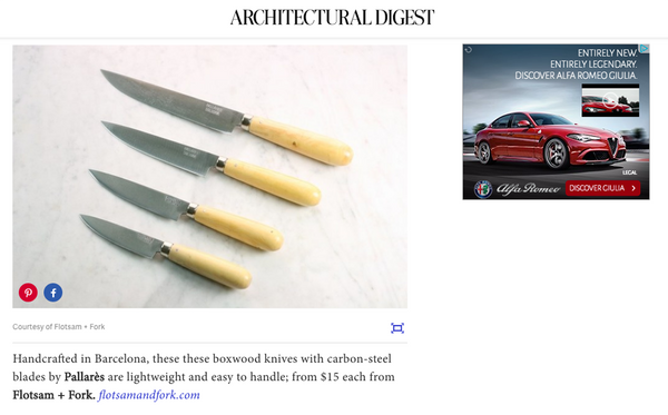 Architectural Digest Beautiful Knife Sets