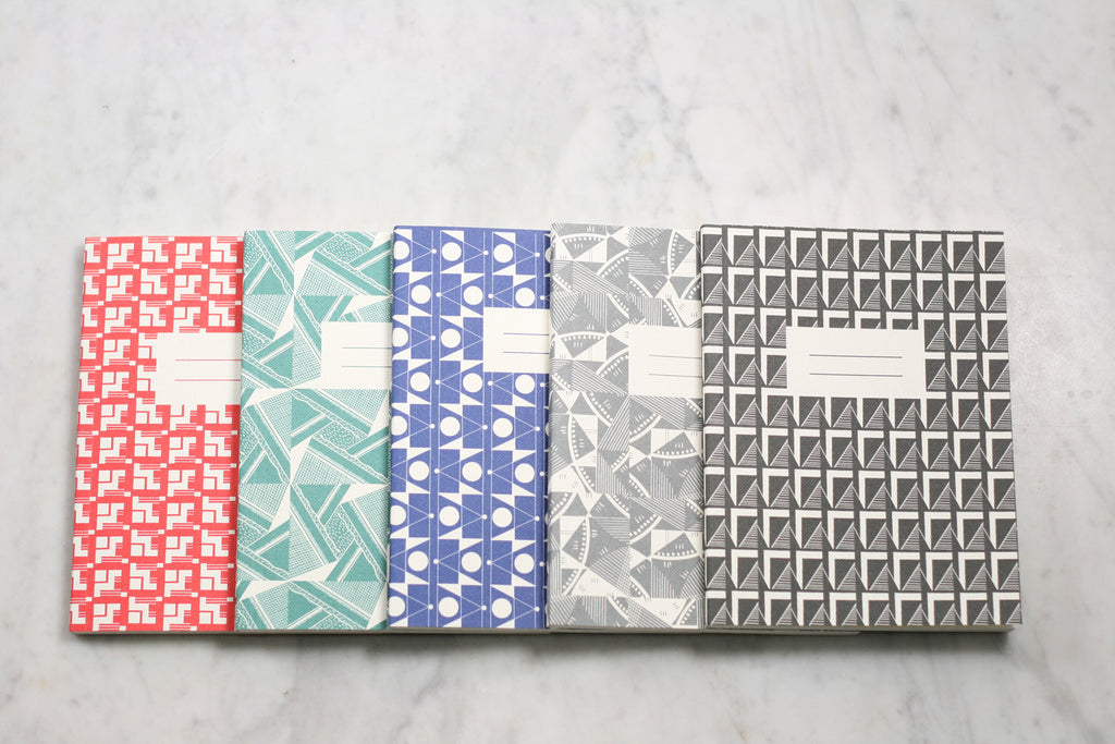 A6 Grid paper notebooks from Esme Winter. Made in England.