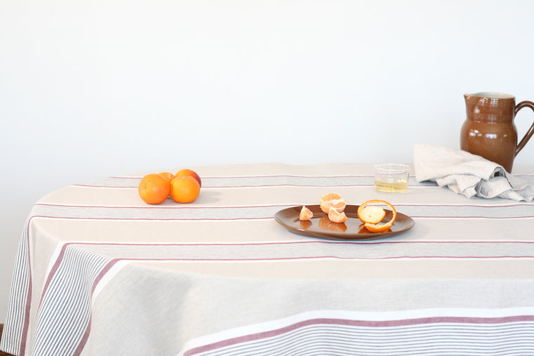 Striped Alizee Tablecloth