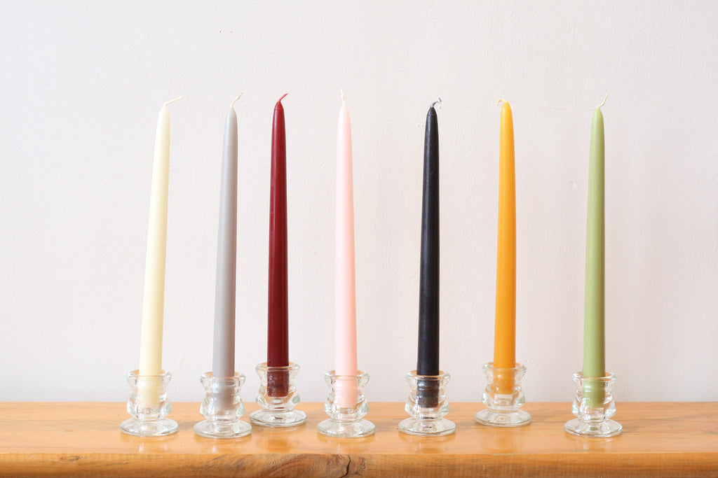 Bougies la Francaise Classic Taper Candles, Set of 2