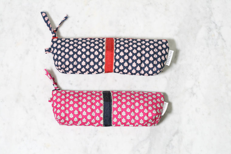 Provence Print Pencil Case Ampo