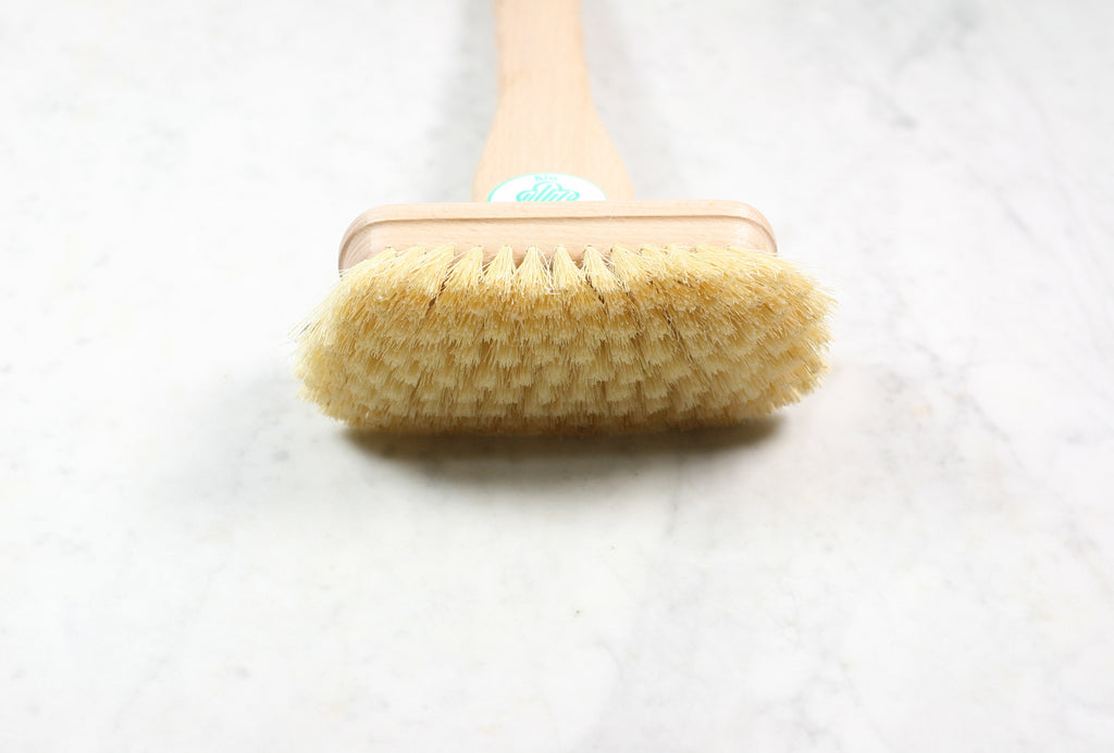 Burstenhaus Redecker natural bristle bathtub brush with wooden handle. Made in Germany.