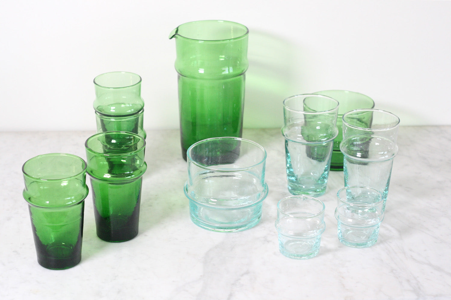 Kessy Beldi Recycled Bottle Glasses, Clear