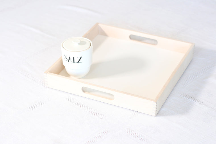 Iris Hantverk Birch Tray with Handle