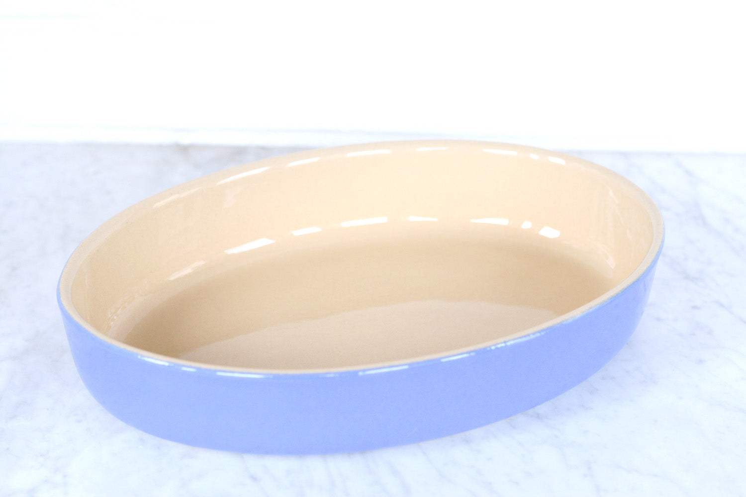 Poterie Renault Oval Baking Dish Provence Blue