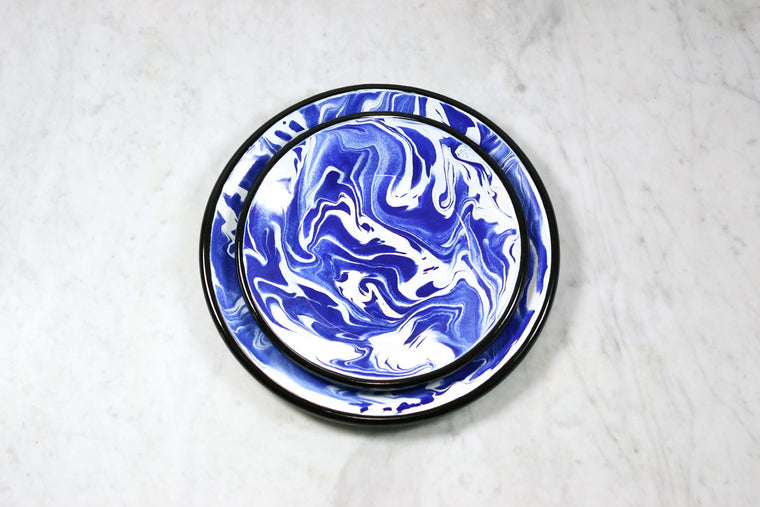 Marbled Enamel Lunch Plate