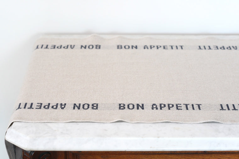 Linen Bon Appetit Table Runner