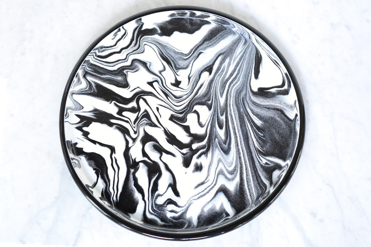 Marbled Enamel Serving Tray