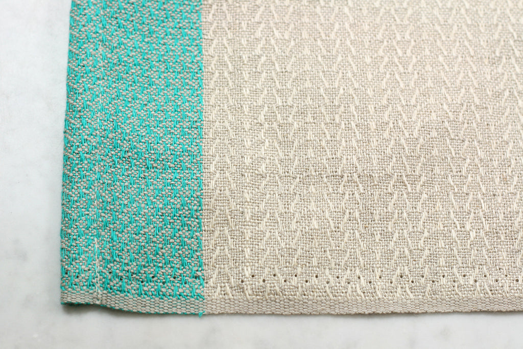Color Block Linen Towel