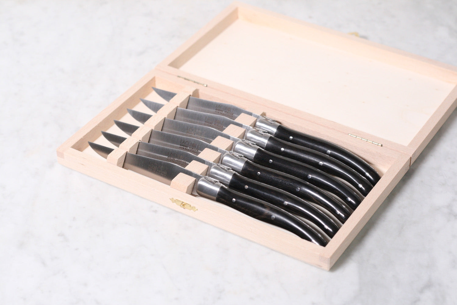 Deluxe Laguiole Steak Knives Ebony